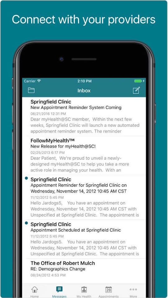 FollowMyHealth Medical Android and iPhone Apps
